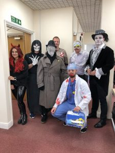 Clearpoint team on Halloween
